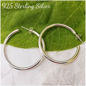 🆕️ 925 Sterling Silver Hoop Earrings